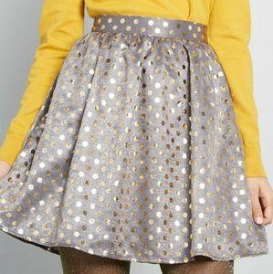 Modcloth Pockets Preffered polka dot mini skirt